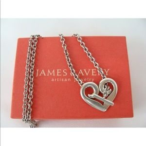 Retired James Avery Heart Toggle necklace
